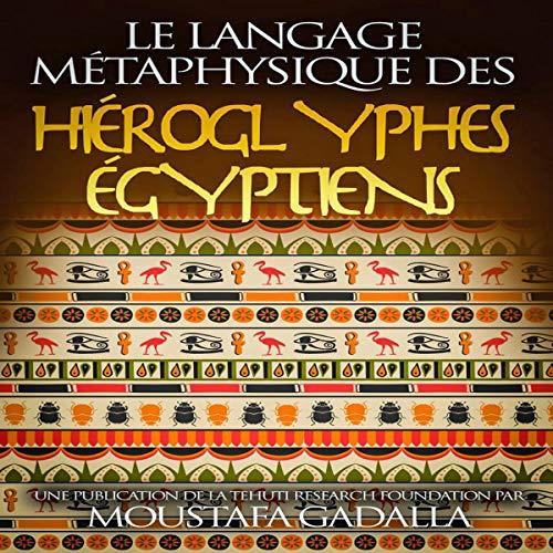 Couverture de Le Langage Métaphysique des Hiéroglyphes Égyptiens