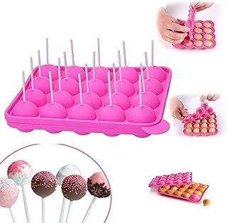 20 cavité Silicone Plateau Pop gâteau bâton Mould- Lollipop Party Cupcake Moule à gâteau, sans BPA