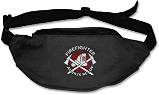 FIREFIGHTER ALWAYS READY Sport Waist Pack Fanny Pack Adjustable For Travel