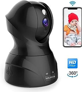ネットワークカメラ Aoleca 1080P IP WEBカメラ 200万画素 監視カメラ 防犯カメラ 双方向音声 ベビーモニター 遠隔監視 無線/有線 子供/老人/ペット等留守番 スマホ/ipad/パソコン対応 日本語説明書付き