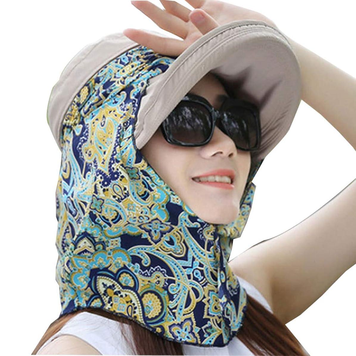 トロリーバス食事公平帽子 レディース 日よけ帽子 ビーチキャップ つば広 熱中症対策 通気性 春夏 おしゃれ 可愛い 小顔効果 6色