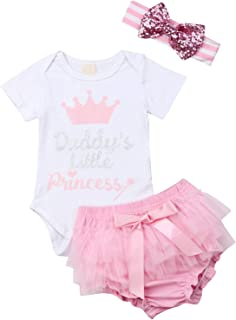 Newborn Baby Girls Long Sleeve Knit Romper Ruffle Bodysuit Tutu Shorts Floral Pants with Headband Outfits Set