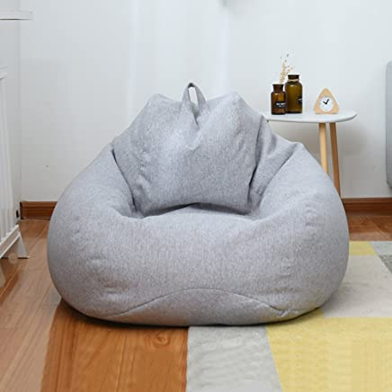 现代简约单人沙发榻榻米休闲沙发豆包 日式创意阳台可拆洗卧室懒人沙发客厅舒适豆袋 (星空灰)