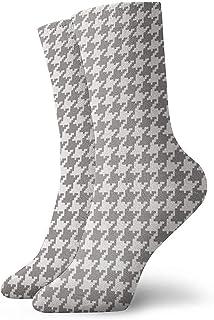 Dydan Tne, Classic Houndstooth Classic Houndstooth Vestido Largo con Estampado Tropical Calcetines Divertidos Calcetines Locos Calcetines Casuales para niñas Niños