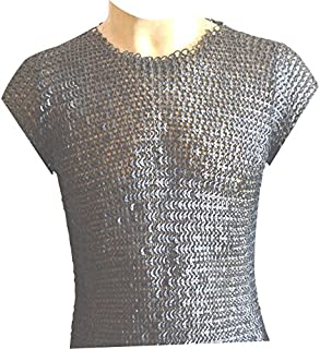 Chain Mail Vest 9 MM Flat Riveted with Washer Medieval Armour ABS