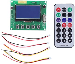 ASHATA Decoder MP3 Decoder, Mount MP3 Bluetooth Decoder Board Lyrics Anzeigemodul LCD Fernbedienung Zubehör für MP3/WMA/WAV und andere vollständige Decodierung