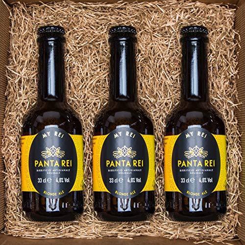 BOX DEGUSTAZIONE - 3 Birre bionde PANTA REI da 33 CL