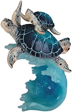 StealStreet SS-G-90141, 8.75 Inch Sea Turtle Swimming with Baby - Collectible Figurine Statue