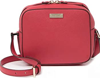 Kate Spade New York Leather Cammie Crosshatched Crossbody