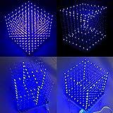 ILS - 8x8x8 LED Cube 3D Light Square Blue LED Flash Electronic DIY Kit