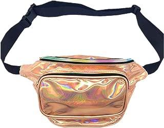 CHAOM Women Hologram Laser Waist Bag Fashion Shiny Neon Fanny Pack Bum Bag Travel Purse