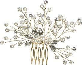 Hot✨💖 Womens Head Clips YUTU Fashion Flower Wedding Hair Pins Comb Bridal Clips Crystal Pearl Bridesmaid Hairband Headwear Accessories for Ladies
