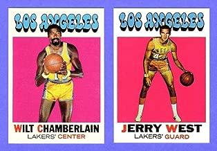 Wilt Chamberlian, Jerry West 1971-72 Topps Basketball (2) Card Reprint Lot (Warriors) (Lakers)