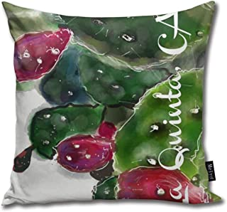 La Quinta CA Prickly Pear Cushions Case for Sofa Home Decorative Pillowcase Gift Ideas Zippered Pillow Covers 18X18Inch