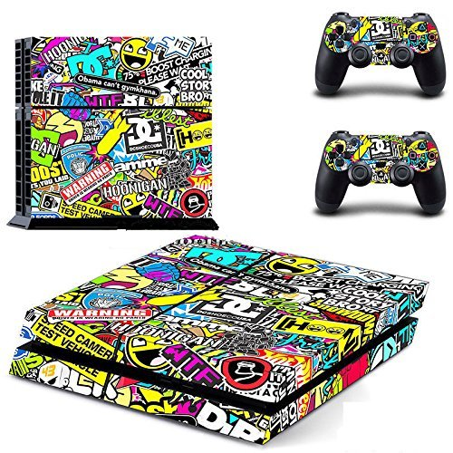 Yosoo Dekorative Aufkleber für Playstation 4 PS4 auch x Controller Farbig
