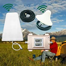 LianDu Dual Band Cell Phone Signal Booster Cellular Signal Amplifier Repeater Kit 2G 3G 4G CDMA/PCS 850/1900MHz
