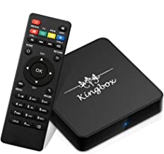 $42 Get Kingbox Android TV Box 8.1, Model X Android Box with 2GB RAM 16GB ROM Quad-Core Support Dual-Band WiFi 2.4G+5G / 4K / 3D / H.265 Smart TV Box (Model X 8.1)