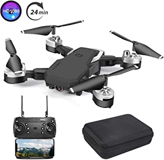B-Qtech Drone with Camera, Foldable WiFi RC Quadcopter Drone, 1080P HD Drone for Kids & Adults & Beginners, 24 Min Long Flight Time, One Key Return, Live Video, Headless Mode.