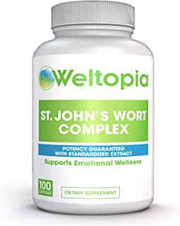 Weltopia - St. Johns Wort Extract - Saint John's Mood Support - Promotes Mental Health & Positive Emotional Wellness