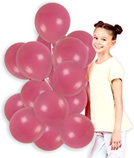 Treasures Gifted Valentines Day Party Supplies Rose Pink Solid Latex Balloons 100 Pack for Birthday Baby Shower Wedding Party Decorations