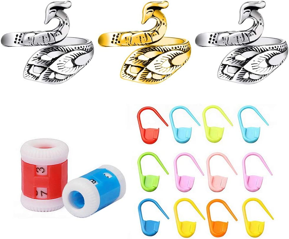 3PCS Yarn 70% OFF Outlet Ring 20PCS Stitch Plastic Counter Markers Knit 2PCS free shipping