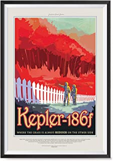EzPosterPrints - Visions of The Future, NASA Space Tourism Posters - Amazing NASA Art Print for School, Kids Room,Home Office Decor - Kepler 186F - 12X18 inches