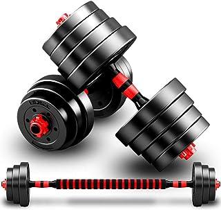 WQP Adjustable Dumbbells Barbell Set 2 in 1 for Men Dumbbell Barbell Sets 10/20/30/40KG Lifting Dumbells for Body Workout Home Gym Home Heavy Dumbbells