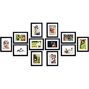 Amazon Brand - Solimo Collage Photo Frames (Set of 12, Wall Hanging)