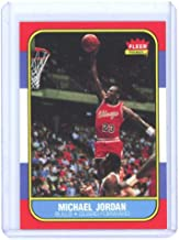 1986-87 Fleer #23 Michael Jordan Chicago Bulls Rookie REPRINT Card Special Nice Gift Ships in New Card Holder