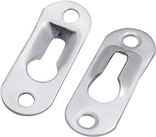 20pcs Bag Metal Keyhole Hanger Picture Hanging Frame Mirror Cabinet Bracket C
