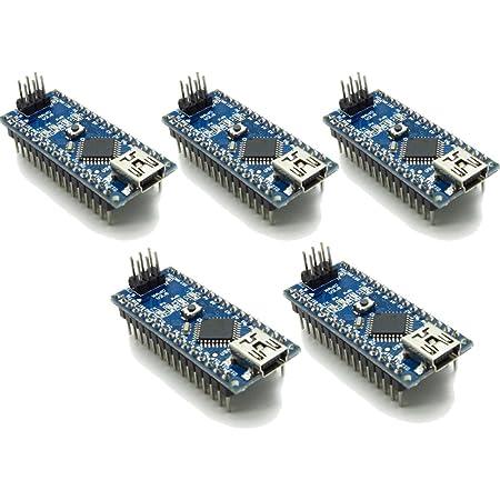 waves 5個 Arduino Nano V3.0 互換品 Mini USB CH340 国内配送 ピンヘッダ装着済