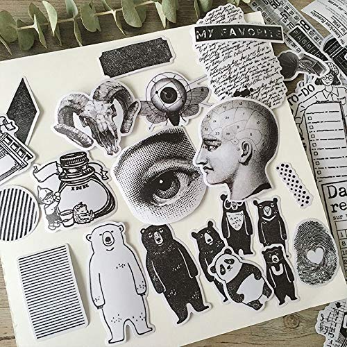 Europese en Amerikaanse Retro Seal dier Character koffer Effect Stickers 64 stuks