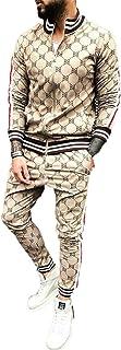 Mens Hip Hop Tracksuit 2 Piece Casual Pants Jacket Sweatsuit Sweatshirt Activewear Set
