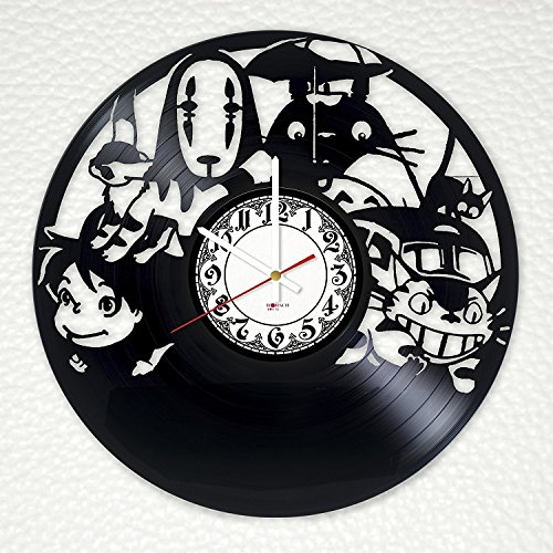Studio Ghibli Spirited Away Handmade Vinyl Record Wall Clock Get Unique Kids Room Wall Decor Gift Ideas For Siblings Children Teens Animation Studio Unique Design Buy Online In