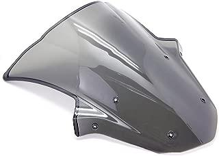 9sparts Black | Clear | Smoke Double Bubble ABS Plastic Injection Windscreen Windshield For 2011 2012 2013 2014 2015 Kawasaki Ninja ZX10R ZX1000 (Smoke)