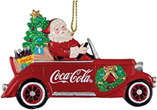 Kurt Adler Coca Cola Santa Driving Car Ornament 4.38 Inches Tall
