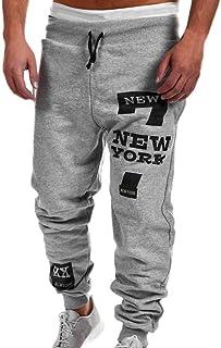 Haoricu Men Sweatpants, Mens Fashion Sport Trousers Casual Joggers Slim Fit Pants Sweatpants