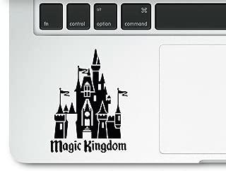 Magic Kingdom Castle 透明乙烯基印花贴花贴纸适用于笔记本电脑 Macbook Trackpad 米老鼠公主
