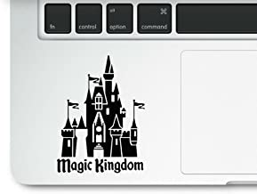 Magic Kingdom Castle Clear Vinyl Printed Decal Sticker for Laptop Macbook Trackpad Mickey Mouse Princess