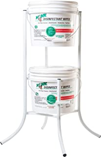 Monk Disinfecting Wipes Metal Bucket Stand for 800 Count Disinfectant Wipes Buckets