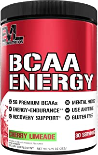Evlution Nutrition BCAA Energy - High Performance Energizing Amino Acid Supplement For Muscle Building, Recovery And Endur...