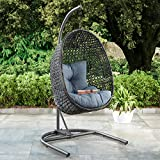 Lantis Outdoor Wicker Hanging Chair with Stand