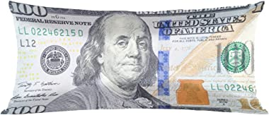 Satin Pillowcase for Hair and Skin Silk Pillowcase Money 100 Dollar Bill Satin Cooling Pillow Covers with Envelope Closure Ki