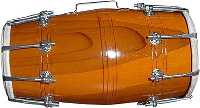 WOOD DHOLAK INDIAN FOLK MUSICAL INSTRUMENT DRUM NUTS N BOLT