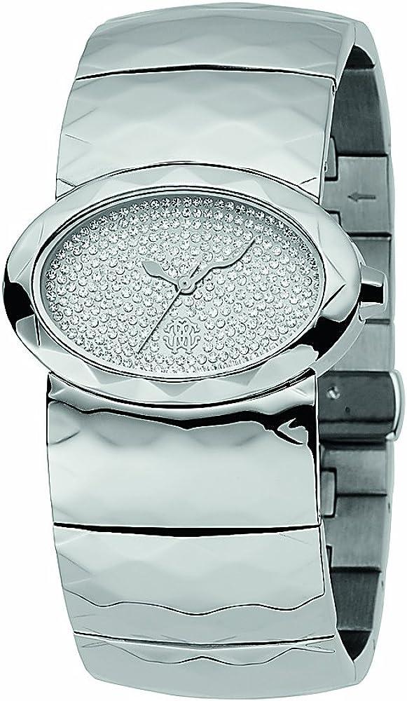Roberto cavalli `multiface`,orologio da donna in acciaio inossidabile R7253133615