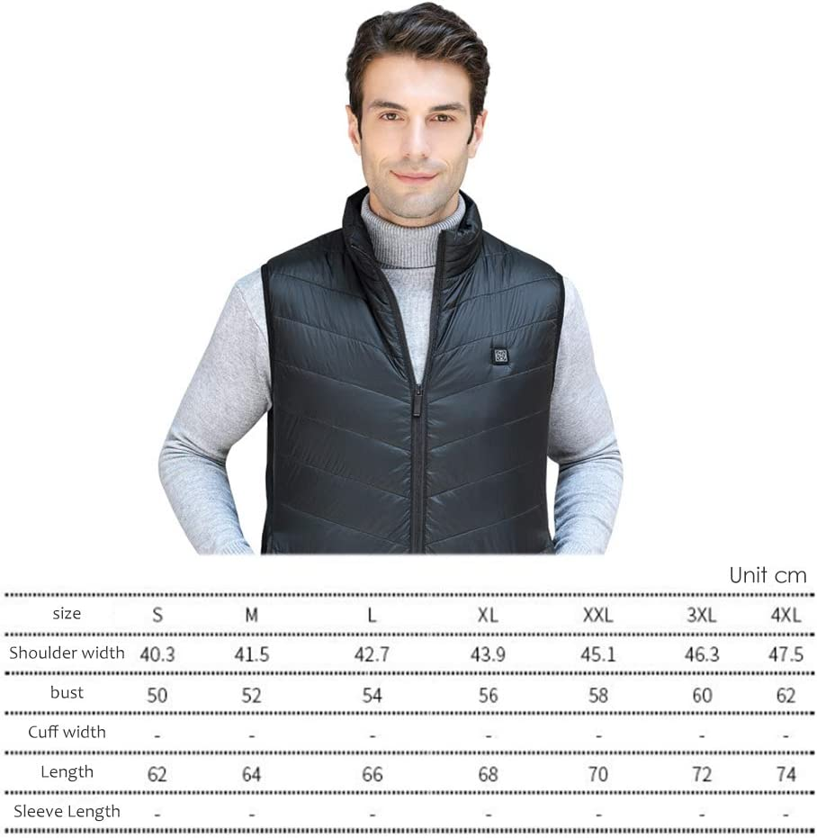 Heated Vest Winter Outdoor USB Infrared Heating Vest Jacket Electric Thermal Waistcoat for Sports Hiking Climbing