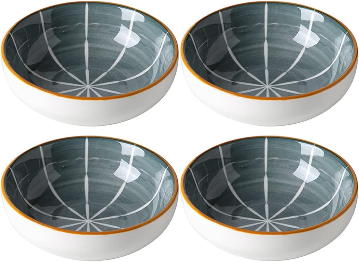 Luxury Department store goods Sizikato 4pcs Porcelain Sauce Bowl 4-Inch Appetizer Plate Snack