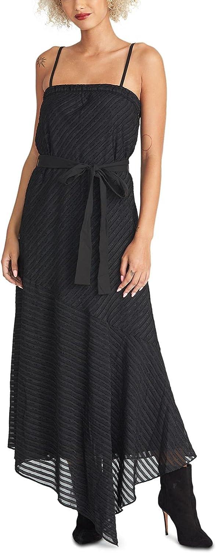 RACHEL Rachel Roy Rare Womens Isla Asymmetric Luxury goods Dress Maxi Striped