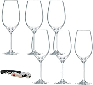Riedel Wine Series Crystal Syrah/Shiraz Wine Glass, Set of 6 with Bonus BigKitchen Waiter's Corkscrew