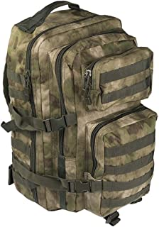 Mil-Tec Military Army Patrol Molle Assault Pack Tactical Combat Rucksack Backpack Bag 36L A-TACS FG Forest Greenery Advanced Camouflage